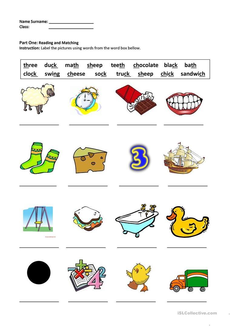 Digraphs Sh,ch,th,ck,ng Worksheet - Free Esl Printable Worksheets - Free Printable Ch Digraph Worksheets