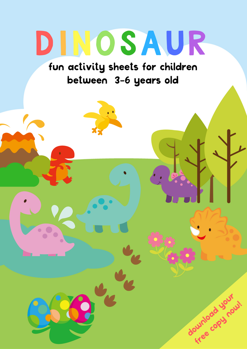 Dinosaur Activity Sheets For 3-5 Years Old | Free Printable Pack - Free Printable Dinosaur Activities For Kindergarten
