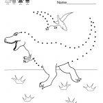 Dinosaur Connect The Dots   Free Kindergarten Learning Worksheet For   Free Printable Dinosaur Activities For Kindergarten