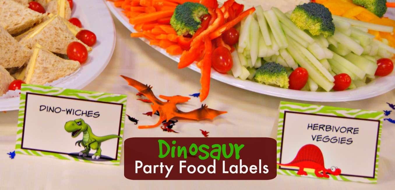Dinosaur Party Food Labels   Free Printable - Free Printable Dinosaur Labels