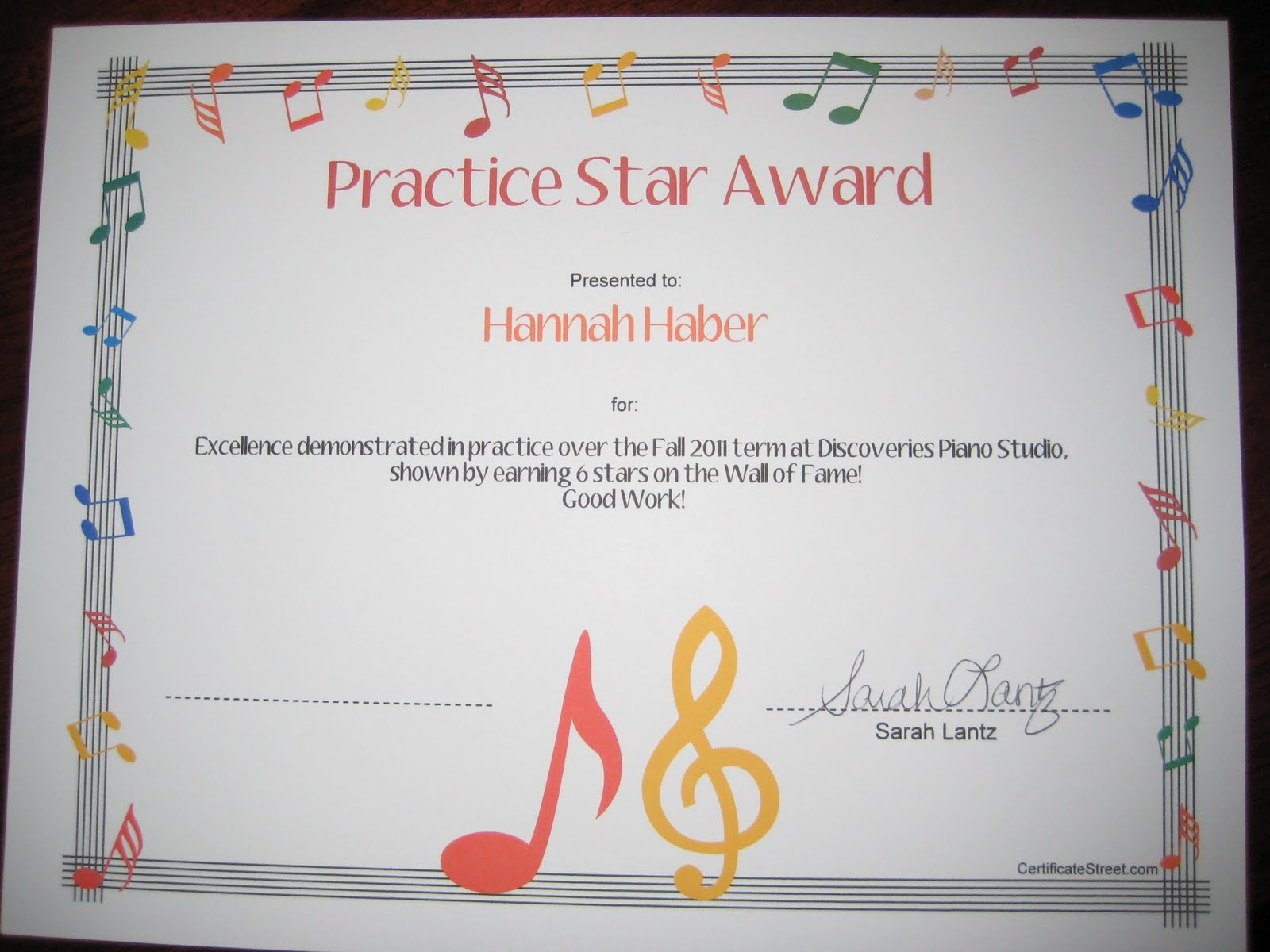 Discoveries Piano Studio: Resource For Free Printable Music Certificates - Free Printable Piano Recital Certificates
