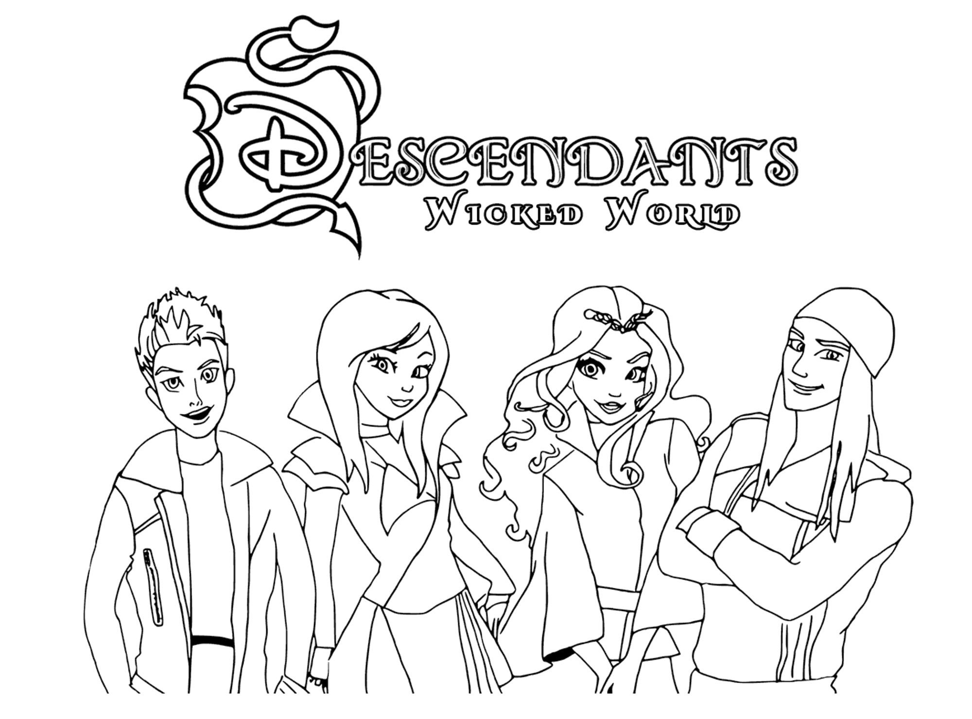 Disney Descendants Coloring Pages Free Best Of Ben And Mal Page - Free Printable Descendants Coloring Pages