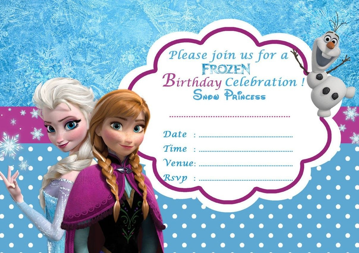 Disney Frozen Birthday Party Invitation Template | Printable - Frozen Invitations Printables Free