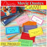 Disney Movie Quotes Game With Free Printables!   A Girl And A Glue Gun   Free Printable Recovery Games