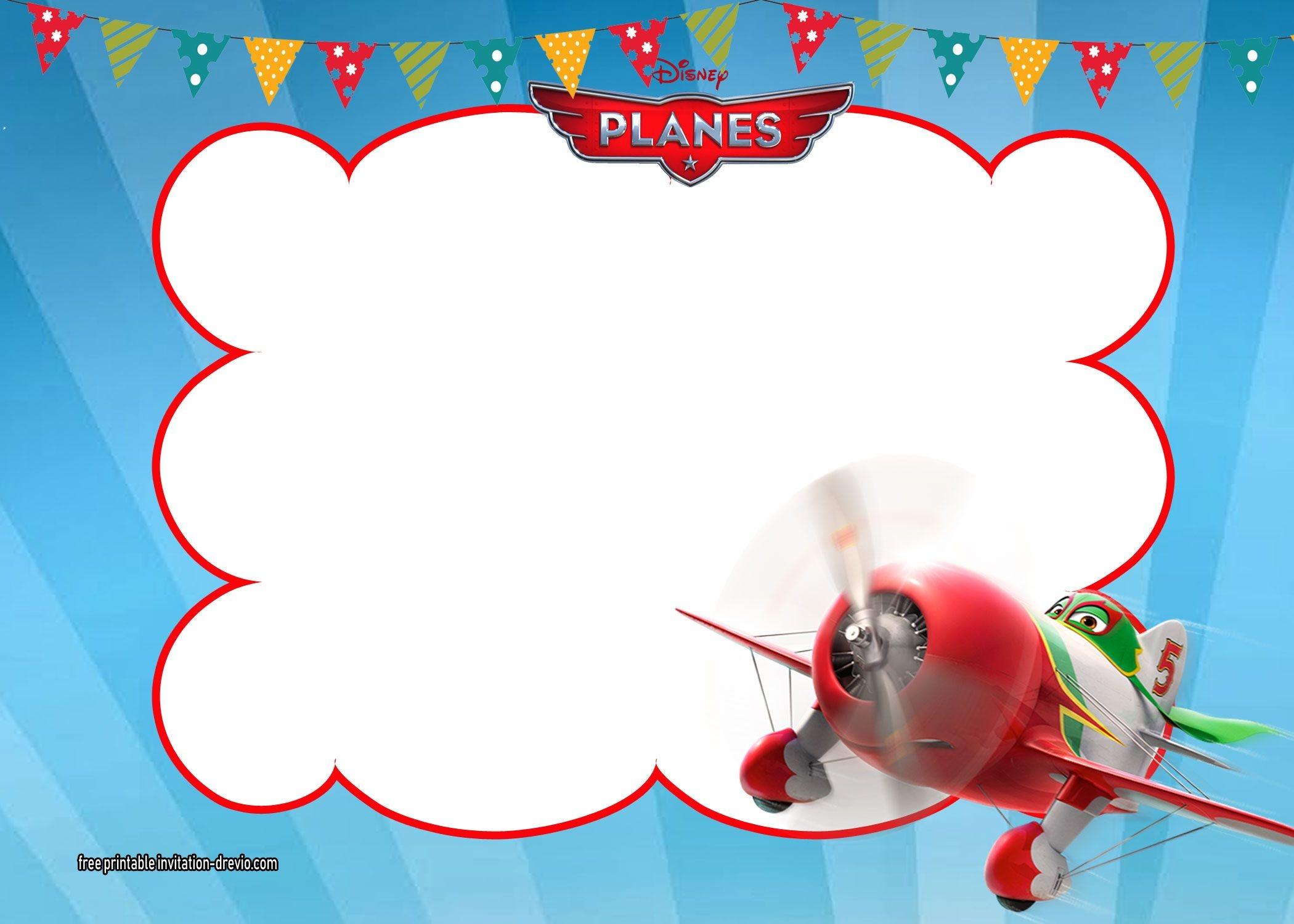 Disney Planes Invitations | Free Printable Birthday Invitation - Free Planes Printables