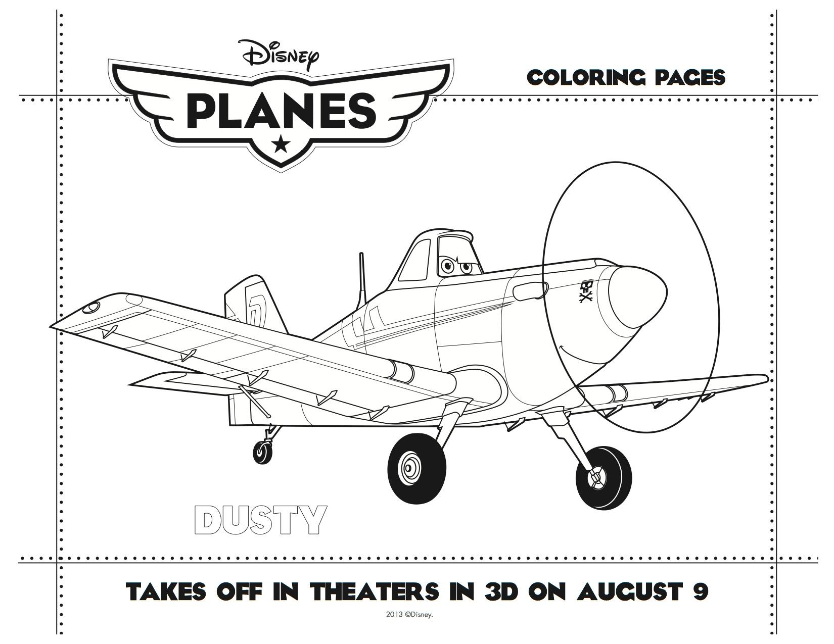 Disney Planes Printable Dusty Coloring Sheet | Mama Likes This - Free Planes Printables