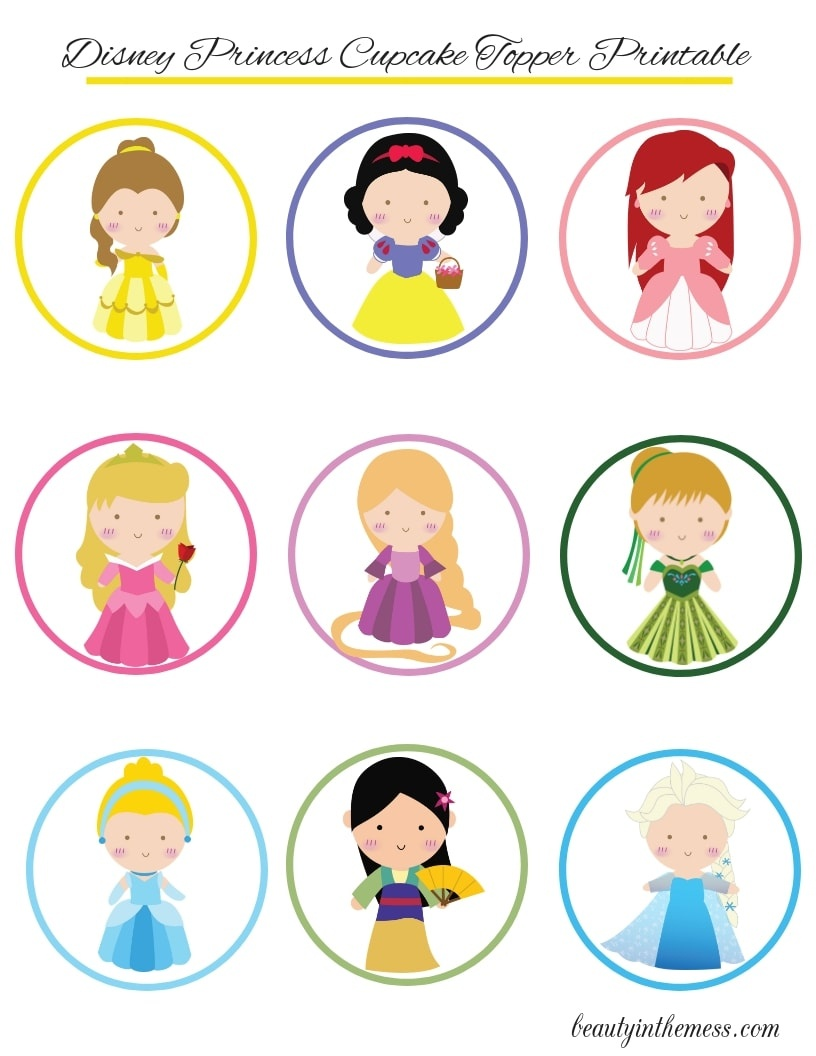 Disney Princess Cupcake Toppers With Printable And Diy Tutorial - Free Printable Disney Stories