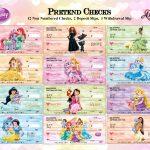 Disney Princess Pretend Play Checks Disney Printables Party | Etsy   Free Printable Play Checks