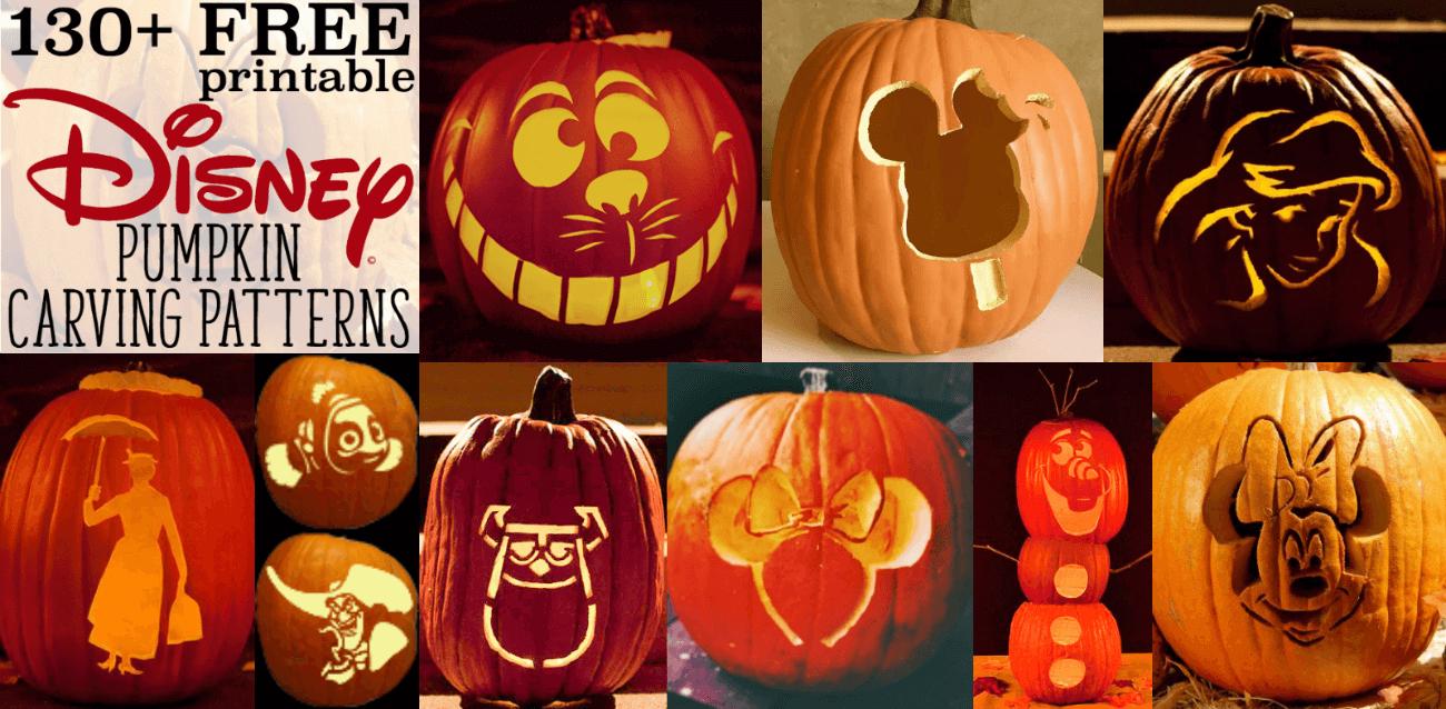 Disney Pumpkin Stencils: Over 130 Printable Pumpkin Patterns - Free Printable Pumpkin Templates