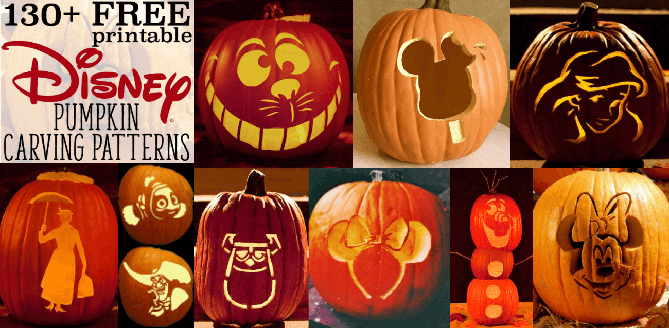 Disney Pumpkin Stencils: Over 130 Printable Pumpkin Patterns - Free Pumpkin Carving Patterns Disney Printable