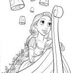 Disney Rapunzel Coloring Pages Free Printable Disney Princess   Free Printable Tangled