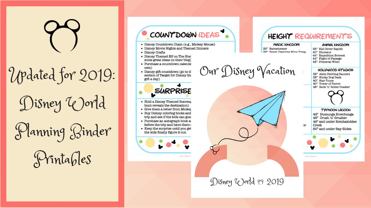 Disney World Planning Binder (Free Download) - Edutaining Adventures - Free Disney Planning Binder Printables