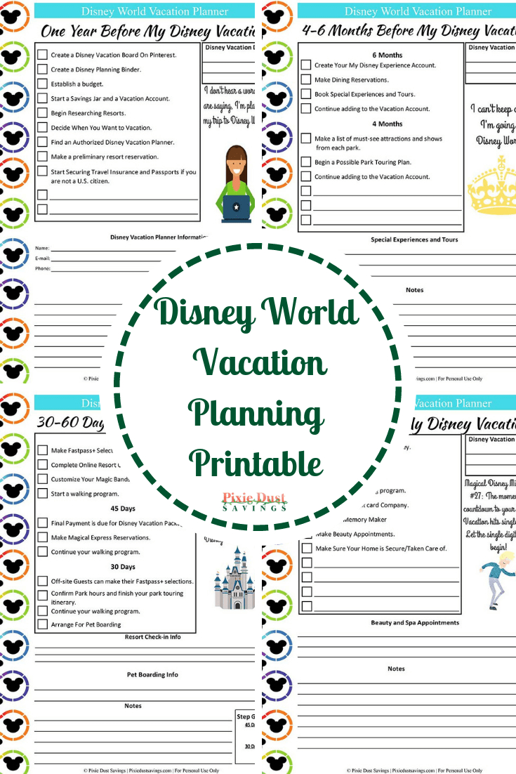 Disney World Vacation Planning Guide + Free Disney Planning Printables - Free Disney Planning Binder Printables