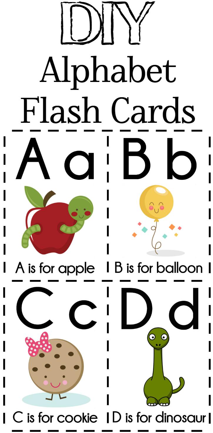 Diy Alphabet Flash Cards Free Printable | Alphabet Games - Free Printable Alphabet Cards With Pictures
