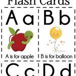 Diy Alphabet Flash Cards Free Printable | Homeschooling | Preschool   Free Printable Flash Cards