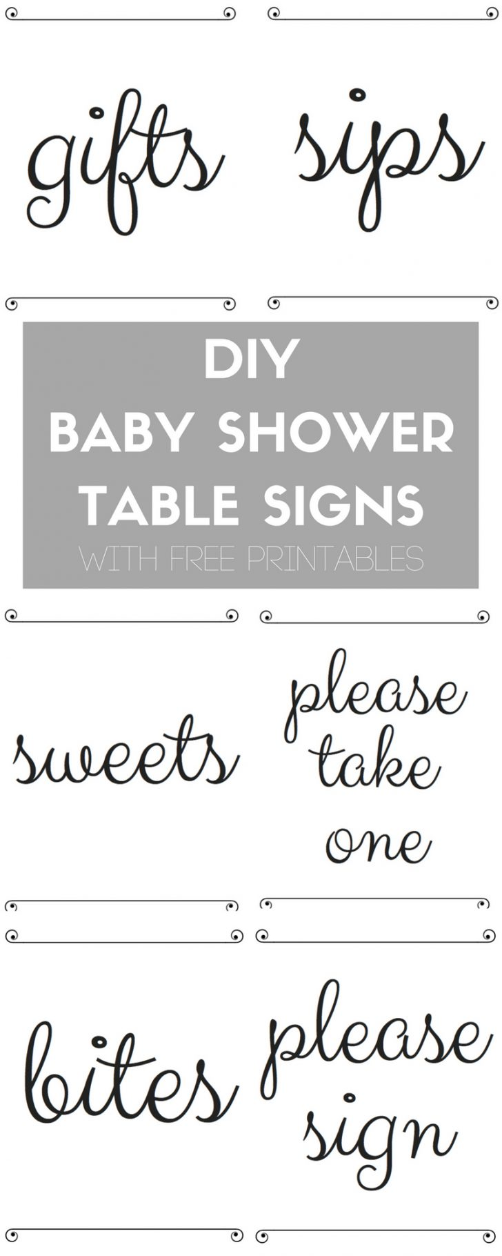 Free Baby Shower Printables Decorations