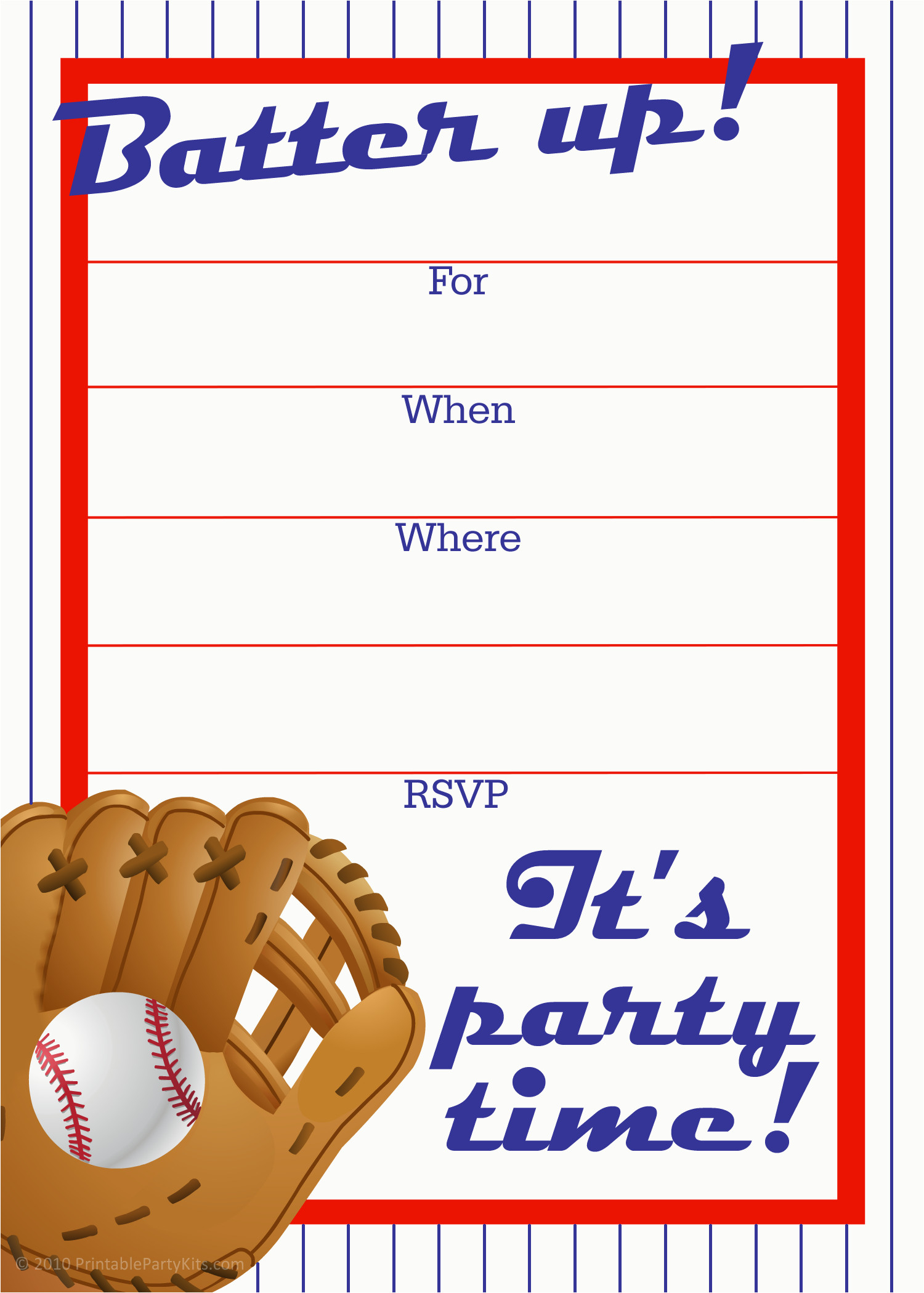 Diy Baseball Birthday Cards Free Printable Sports Birthday Party - Sports Birthday Cards Free Printable