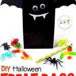 Diy Bat Halloween Treat Bags With Printable Template   Free Printable Trick Or Treat Bags