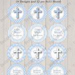 Diy Boys First Communion Printable Or Baptism Cupcake Topper | Etsy   Baptism Cupcake Toppers Printable Free