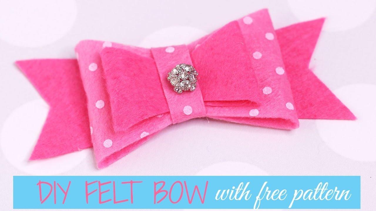 Diy Felt Bow - With Free Printable Pattern  Treasurie - Free Printable Hair Bow Templates