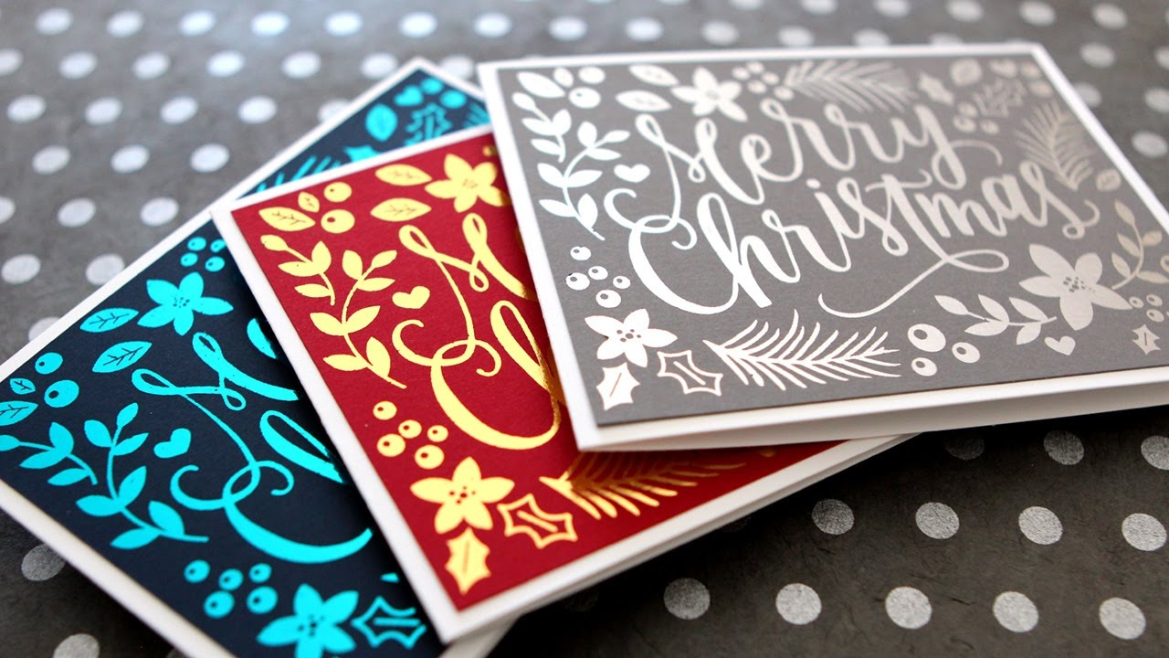 Diy Foil & Full Color Printables - Hand Painted Christmas Card - Youtube - Free Printables For Foiling