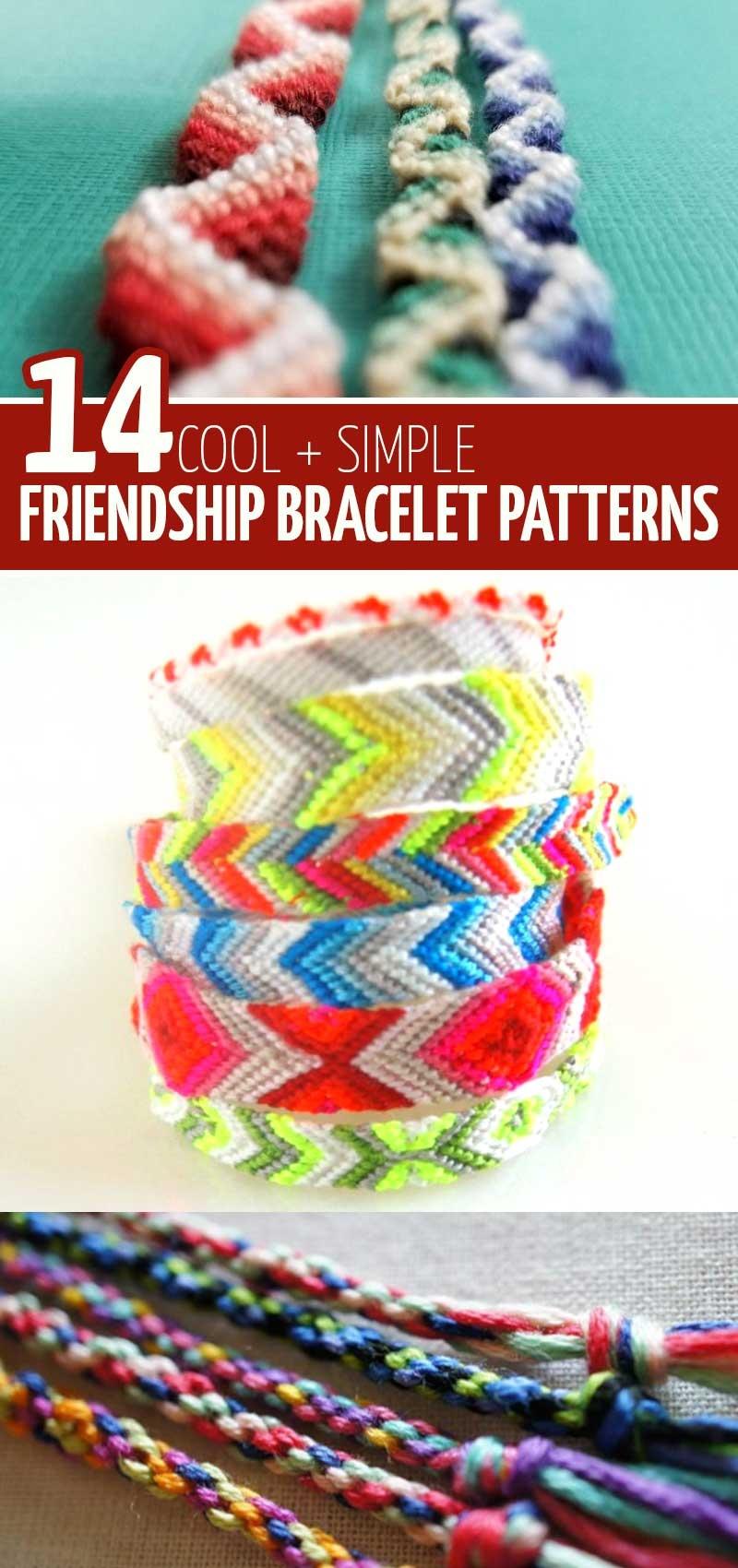 Diy Friendship Bracelet Tutorials And Patterns * Moms And Crafters - Free Printable Friendship Bracelet Patterns