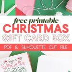 Diy Gift Card Box   Free Printable Gift Idea For Christmas | Persia   Free Printable Christmas Gift Cards