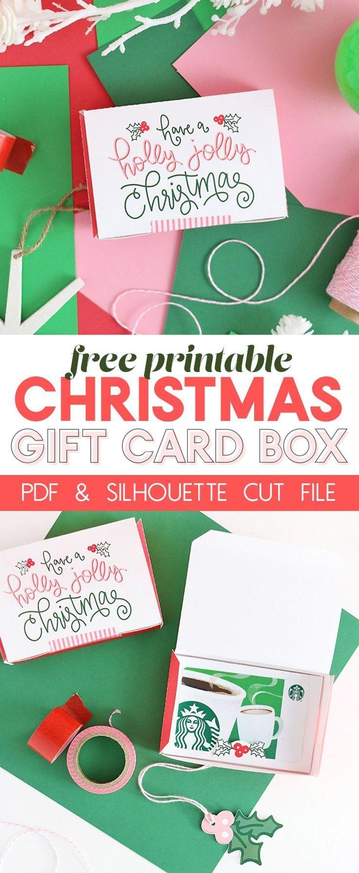 Diy Gift Card Box - Free Printable Gift Idea For Christmas | Persia - Free Printable Christmas Gift Cards