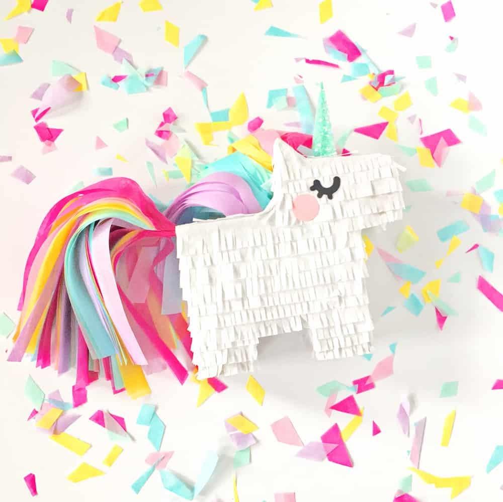 Diy Mini Unicorn Pinata With Free Printable Template - Free Printable Unicorn Template