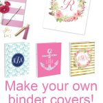 Diy Monogram Binder Covers Using Free Monogram Maker   Chicfetti Blog   Free Printable Customizable Binder Covers