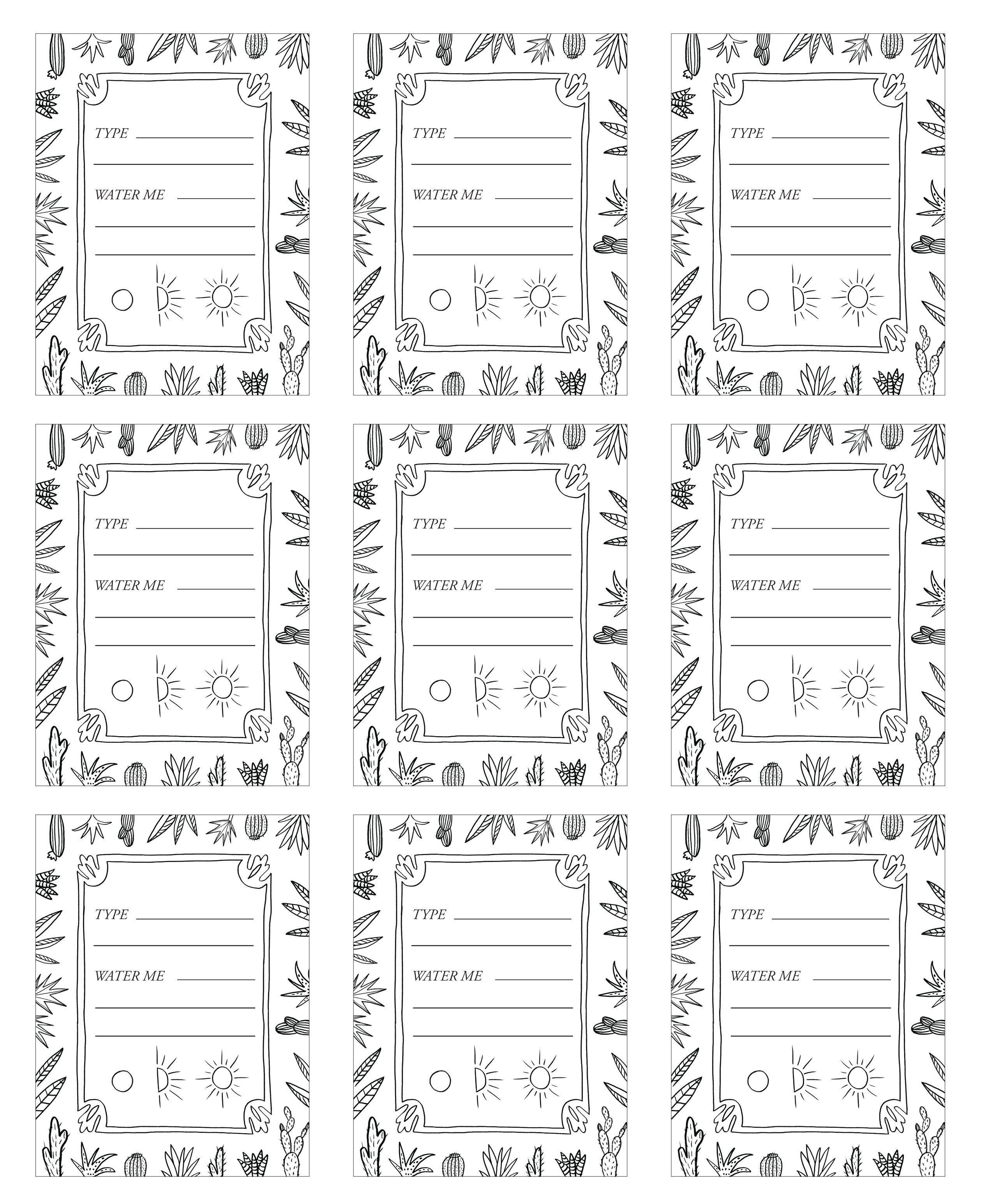 Diy Patternful Planters + Free Printables | Make Me | Plant Labels - Free Printable Plant Labels