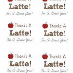 Diy Personalized Teacher Mug + 'thanks A Latte' Free Printable Gift   Thanks A Latte Free Printable Tag
