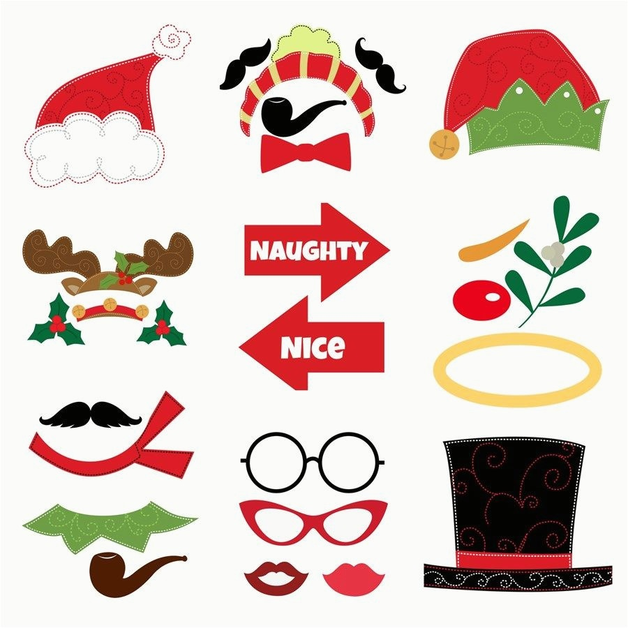 Diy Photo Booth Cut Out Christmas Printable Booth Props – 911Stories - Bachelorette Photo Booth Props Printable Free