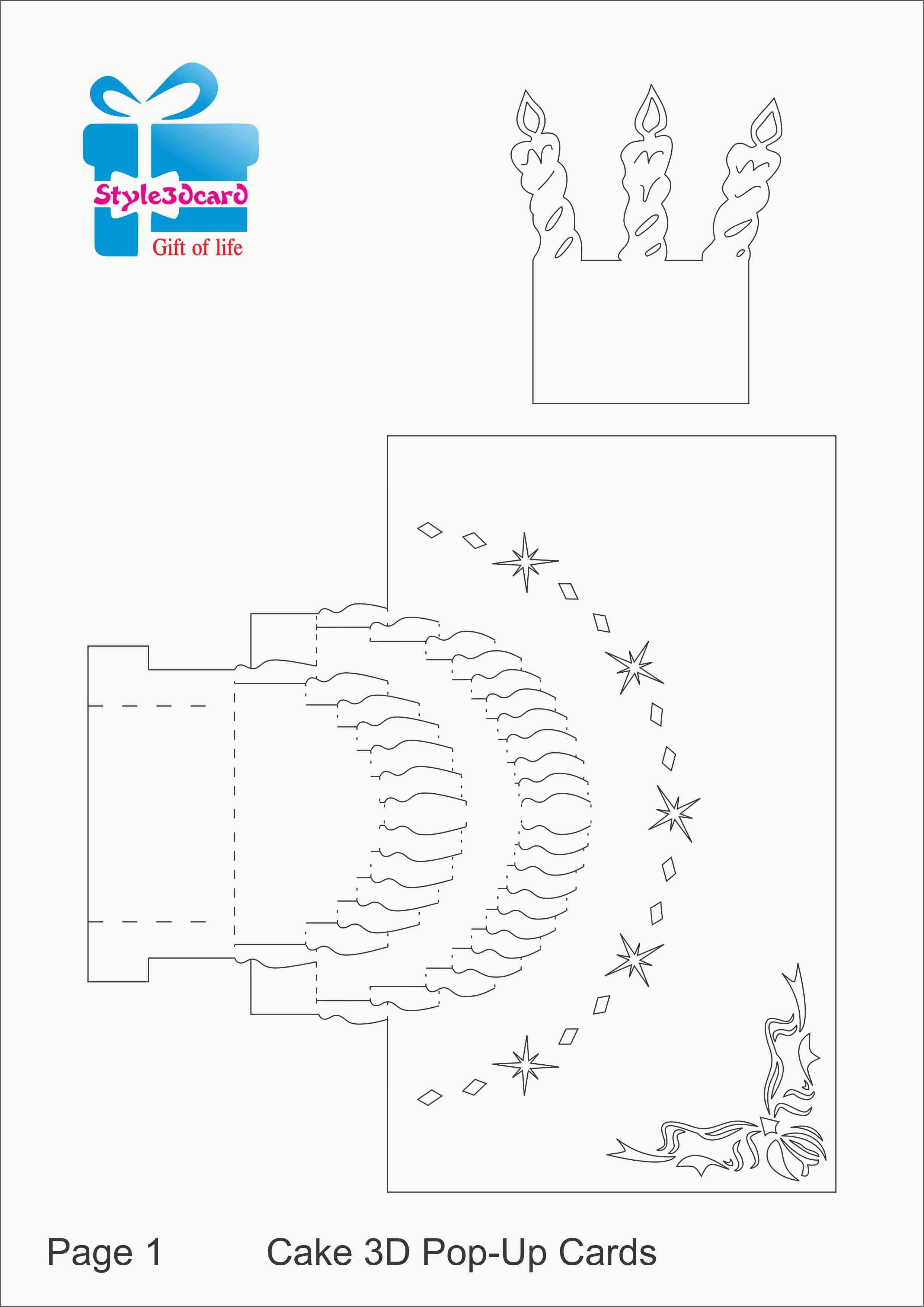 Diy Pop Up Birthday Cards Template | 911Stories - Free Printable Kirigami Pop Up Card Patterns