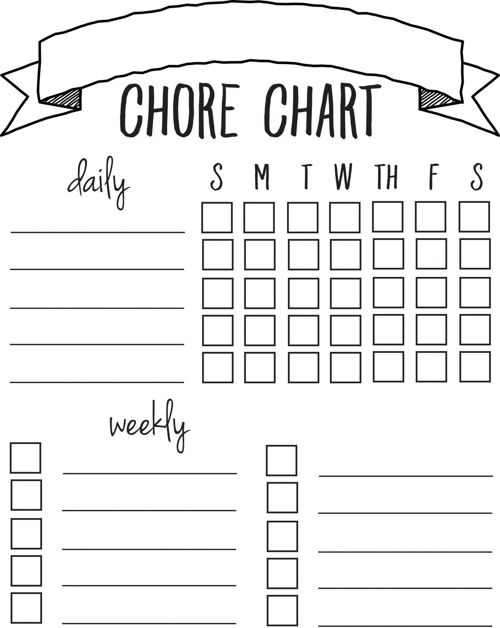 Diy Printable Chore Chart | Free Printables Nov/feb | Chore Chart - Free Printable Chore List