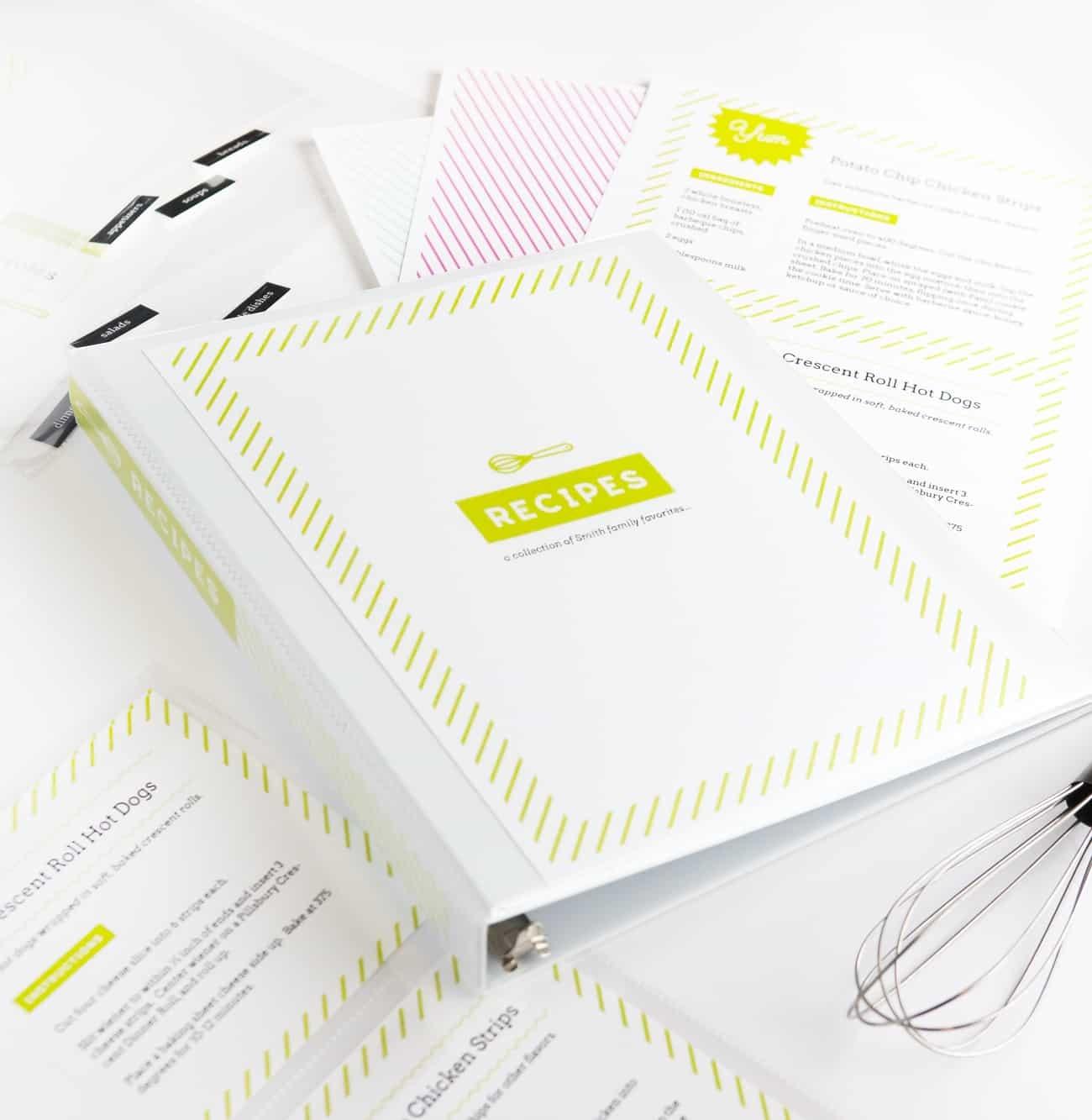 Diy Recipe Book (With Free Printable Recipe Binder Kit!) - Free Printable Recipe Binder Kit