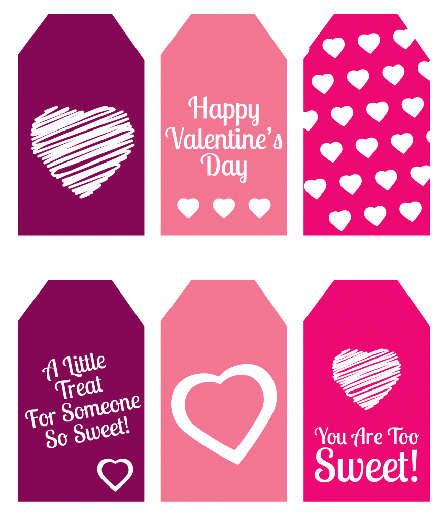 Diy Valentine's Day Gift: Mini Candy Boxes & Printable Gift Tags - Free Printable Valentine Tags