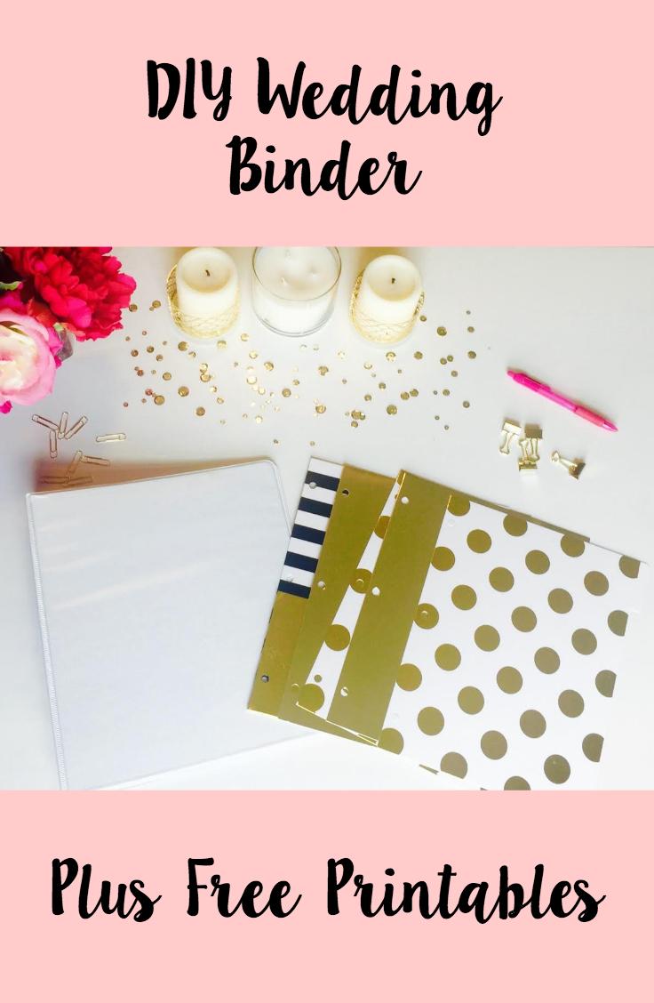 Diy Wedding Binder + Free Printables | Weddings | Diy Wedding Binder - Free Wedding Binder Printables