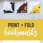 Diy Woodland Animals Origami Bookmarks {Print + Fold}   It's Always   Free Printable Woodland Animal Templates