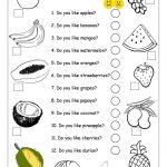 Do You Like Apples?   Fruits Worksheet Worksheet   Free Esl   Free Printable Esl Worksheets