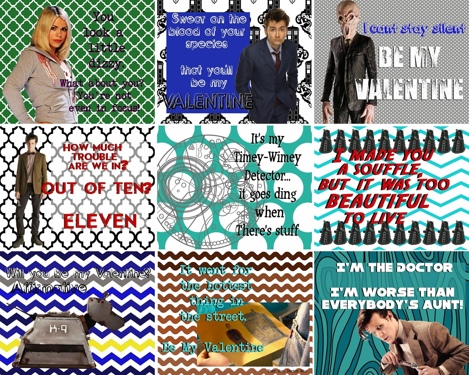 Doctor Who Valentine Printables! - Free Printable Doctor Who Valentines