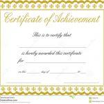 Docx Achievement Certificates Templates Free Certificate Of   Free Printable Certificates Of Achievement