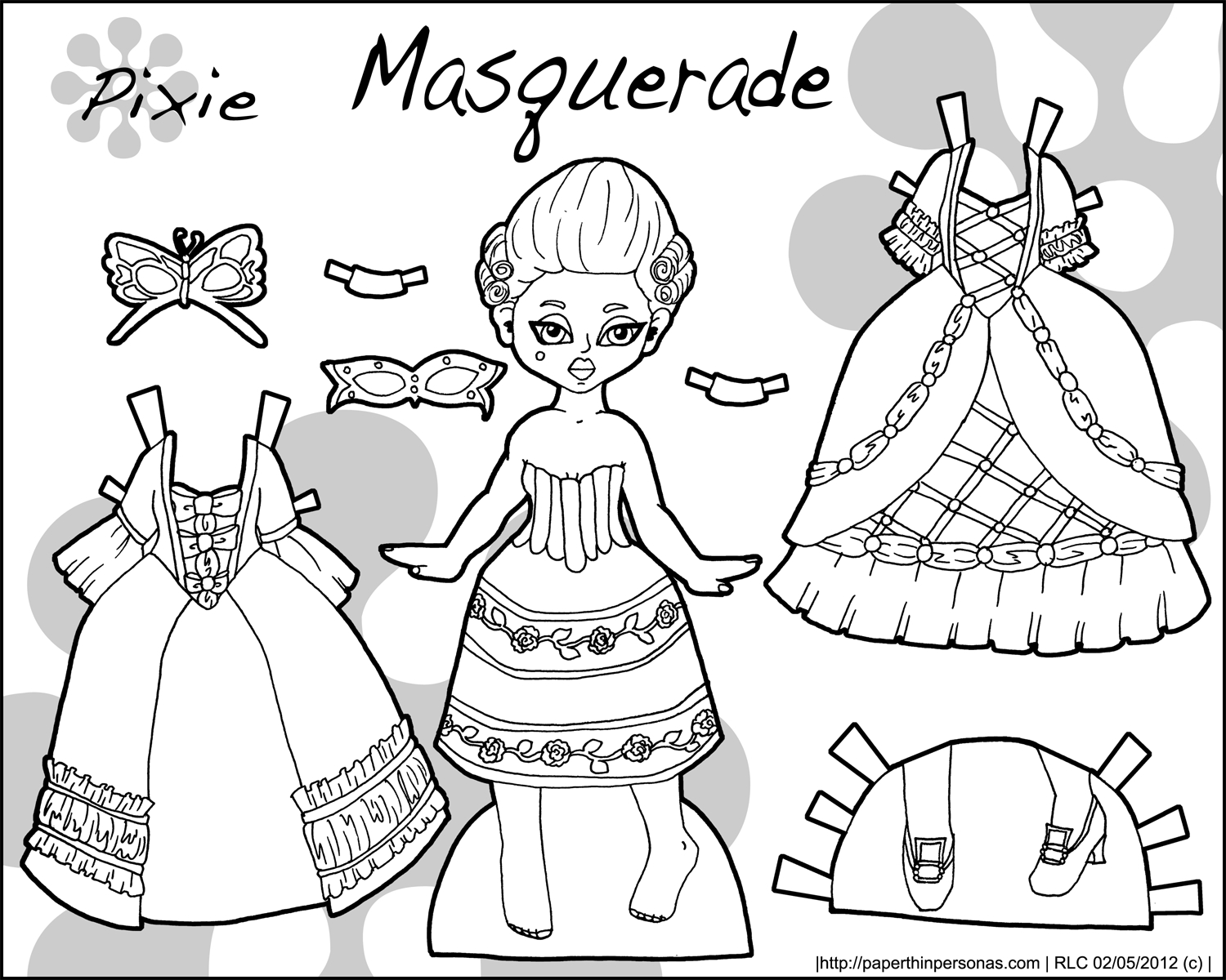 Doll Coloring Pages Printable. Free Printable Stationary Primary New - Printable Paper Dolls To Color Free