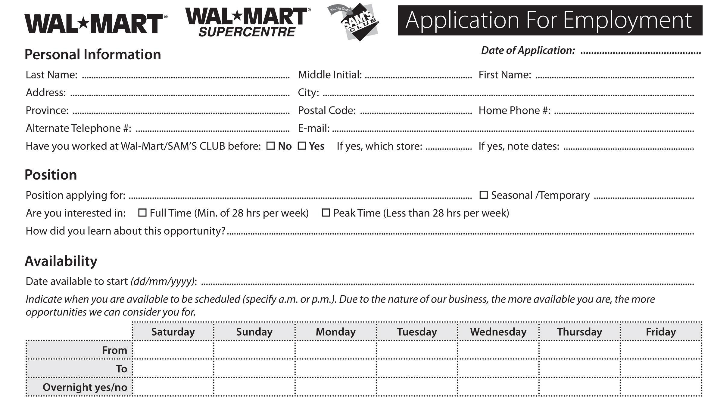 Dollar Tree Job Application | Free Resumes Tips - Free Printable Dollar Tree Application Form