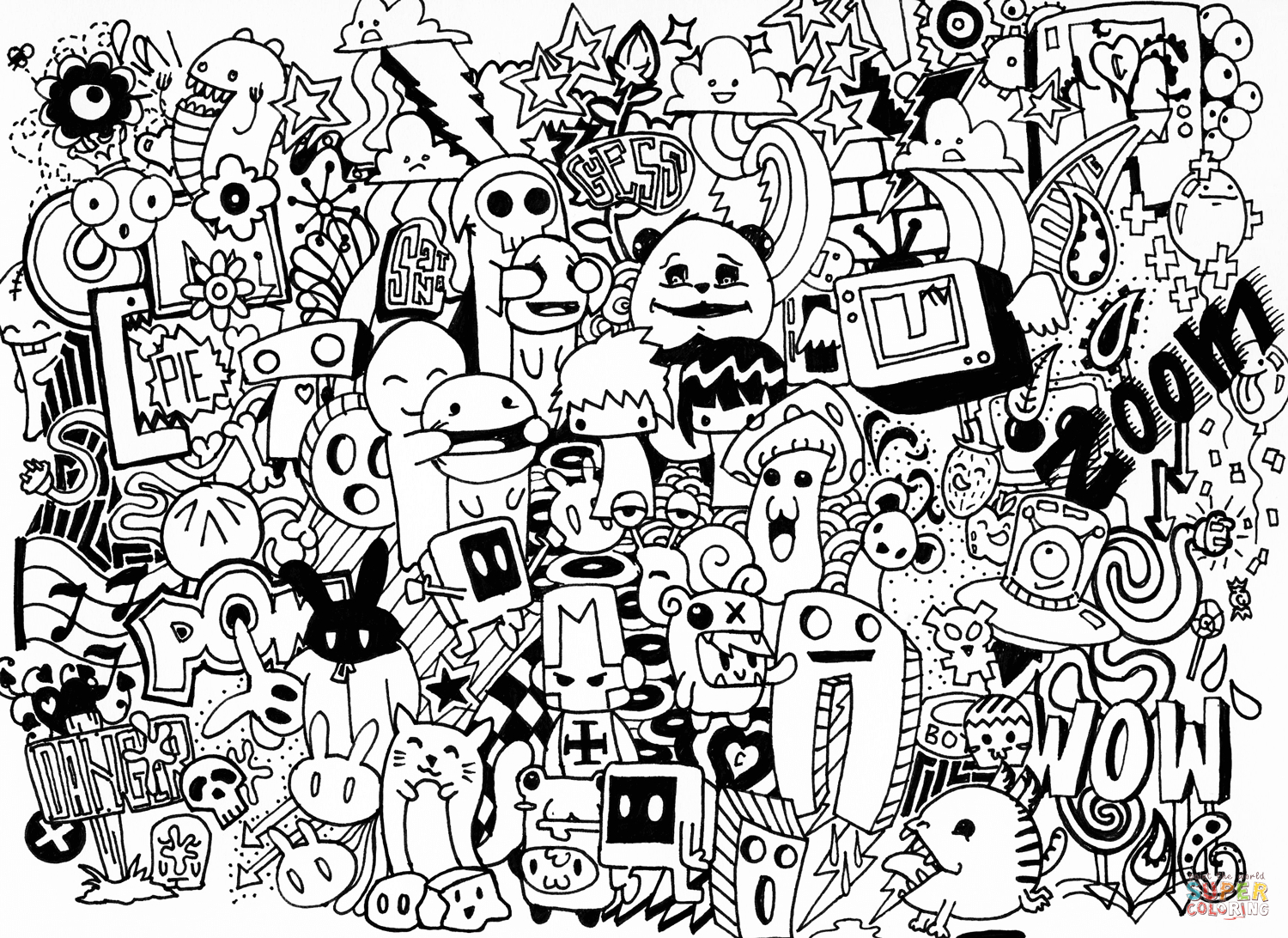 Doodle Art Coloring Pages   Free Coloring Pages   Doodled In 2019 - Free Printable Doodle Art Coloring Pages