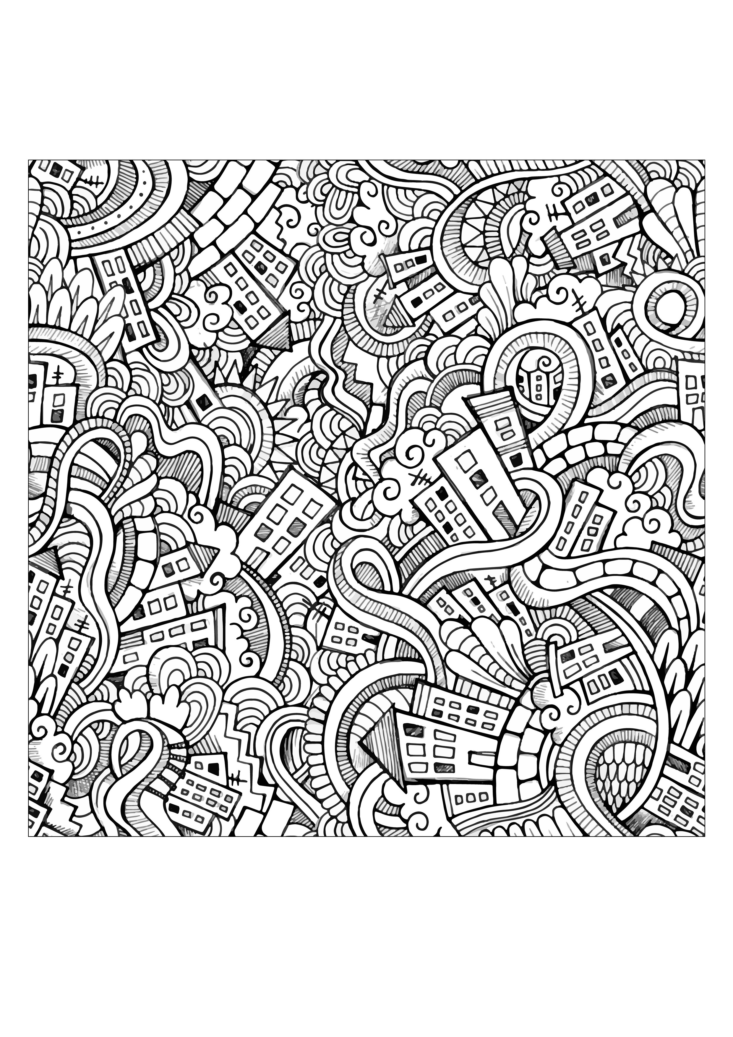 Doodle Art To Download - Doodle Art Kids Coloring Pages - Free Printable Doodle Art Coloring Pages