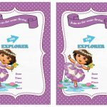 Dora Birthday Invitations | Birthday Printable   Free Dora Party Printables