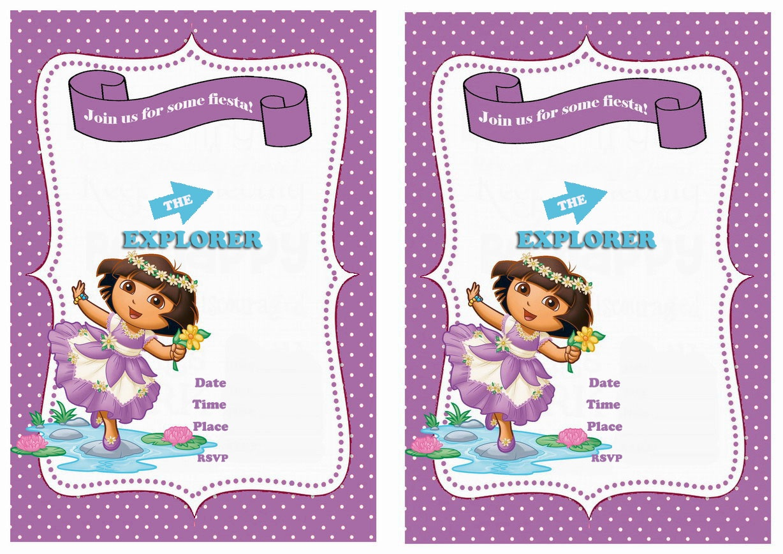 Dora Birthday Invitations | Birthday Printable - Free Dora Party Printables