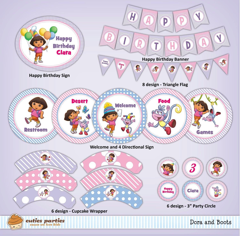 Dora Birthday Printables – Omg Invitation - Free Dora Party Printables