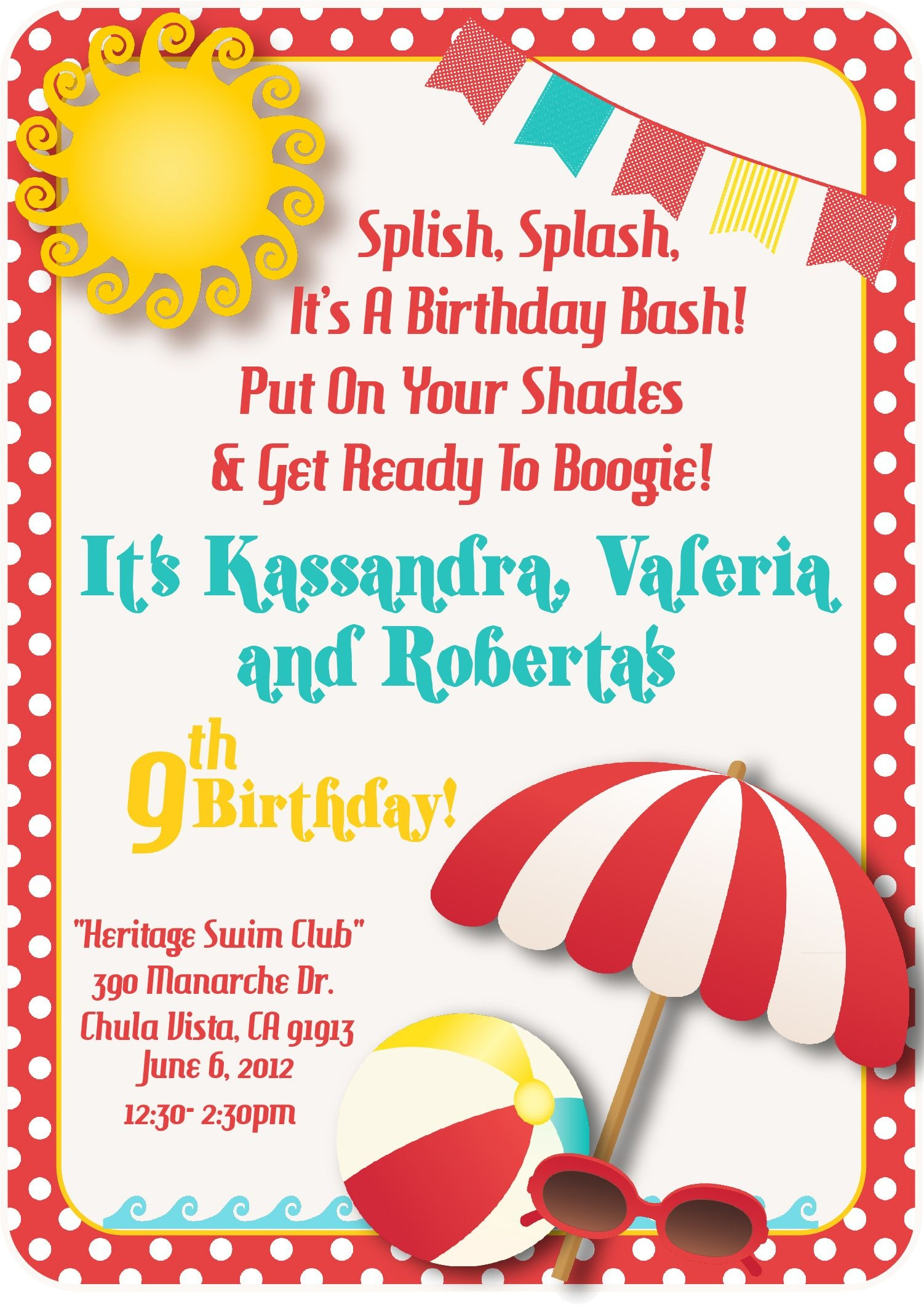 Download A Free Printable Party Invitation Template With A Clipart - Free Printable Water Birthday Party Invitations